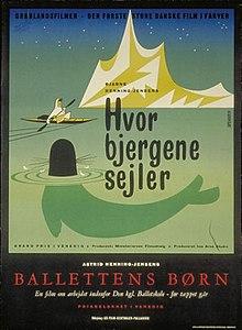 Hvor bjergene sejler 1955 Bjarne Henning-Jensen poster Børge Bjørnbøl.jpg