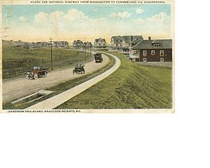 Braddock Heights, Maryland - Jefferson Boulevard, looking south from Maryland Avenue