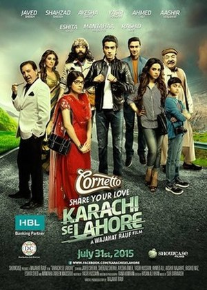 Karachi Se Lahore - Theatrical release poster