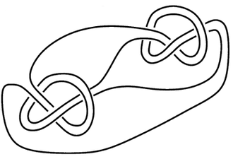 Knot (mathematics) - A knot whose complement has a non-trivial JSJ decomposition.