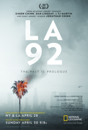 LA 92 (film) - Theatrical and TV release poster