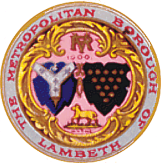 Metropolitan Borough of Lambeth - The original seal of the borough