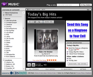 Yahoo! Music Radio - Yahoo Music player from 2009 to late 2010.