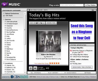 Yahoo! Music Radio - Yahoo Music player from 2009 to late 2010.