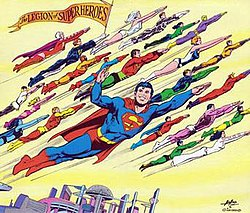 Legion Of SuperHeroes Wikipedia - Superheroes re imagined as if they were sponsored by big brands