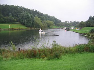 Lightwater Valley - The boating lake at Lightwater Valley theme park