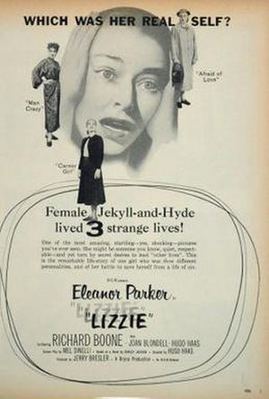 Lizzie (1957 film) - Movie Ad