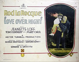 <i>Love Over Night</i> 1928 film by Edward H. Griffith