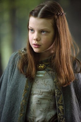 Lucy Pevensie - Georgie Henley as Lucy  in the 2008 film, The Chronicles of Narnia: Prince Caspian.