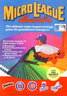 <i>MicroLeague Baseball</i> 1984 video game