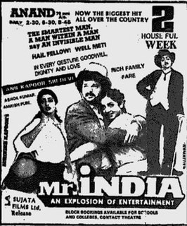 <i>Mr. India</i> (1987 film) 1987 film by Shekhar Kapur