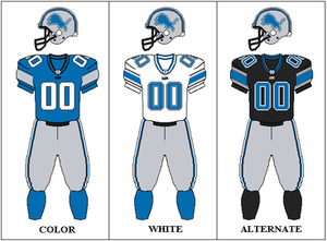 2007 Detroit Lions season - Image: NFCN Throwback 3 Uniform DET