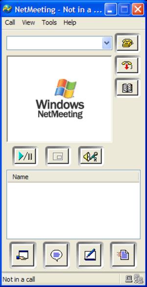 Microsoft NetMeeting - Screenshot of NetMeeting for Windows XP