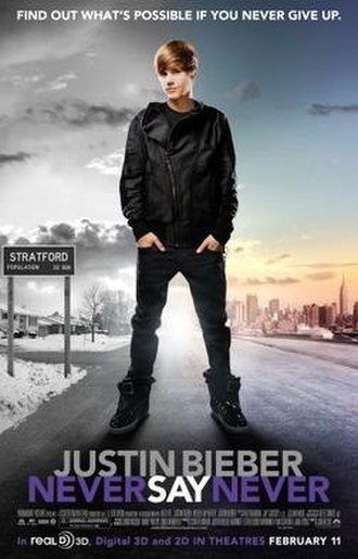 Justin Bieber: Never Say Never - Theatrical release poster