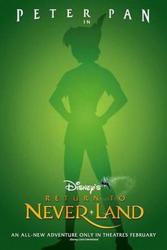 Return to Never Land - Theatrical release poster