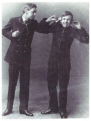 Philip Tonge - Tonge and Noël Coward in Where the Rainbow Ends, 1911