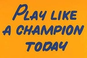 Play Like a Champion Today - Poster of Notre Dame's sign