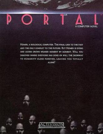 Portal (interactive novel) - Image: Portal 1986 Computer Novel Box Artwork