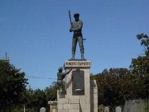 Carolina, Puerto Rico - Statue of Roberto Clemente located at entrance of Ciudad Deportiva Roberto Clemente
