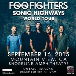 Sonic Highways World Tour - Promotional poster
