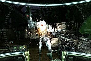 Star Wars: Republic Commando - Republic Commando features a heads-up display themed as a clone trooper's tactical visor. All information is displayed to the player as though they see what the main character would see.