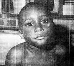 Terrell Peterson - Only known photograph of Terrell Peterson while alive, it was taken in a hospital emergency room where he was taken for child abuse related injuries. He was returned to the abusive foster parent and eventually murdered.