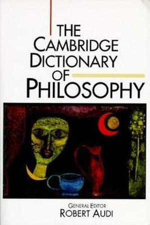 The Cambridge Dictionary of Philosophy - Cover of the first edition