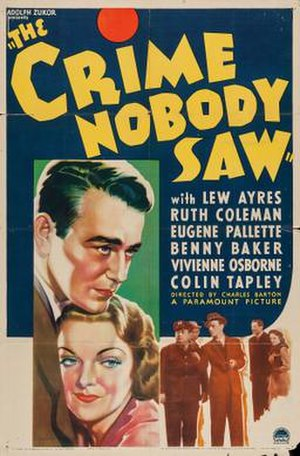 The Crime Nobody Saw - Theatrical release poster