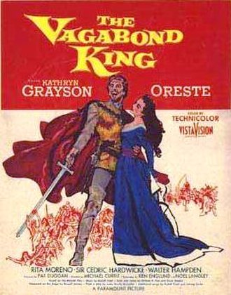 The Vagabond King (1956 film) - Film poster