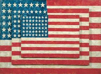 Jasper Johns - Three Flags, 1958, Whitney Museum of American Art