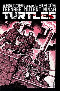 The cover of TMNT #1 is a parody of Frank Miller's Ronin