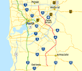 Tonkin Highway route map.png