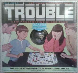 Trouble (board game) - Image: Trouble board game cover