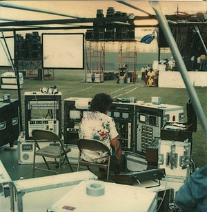 Live event support - Video control center Kool Jazz Festival 1978