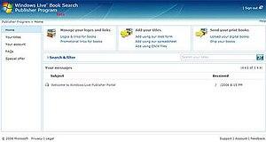 Live Search Books - Live Search Books Publisher Program
