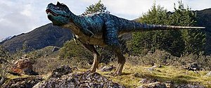 Walking with Dinosaurs (film) - The Gorgosaurus is one of the film's main dinosaurs and is depicted with iridescent scales. Its appearance was scrutinized for palaeontological accuracy due to findings of preserved feathers in other tyrannosaurs.