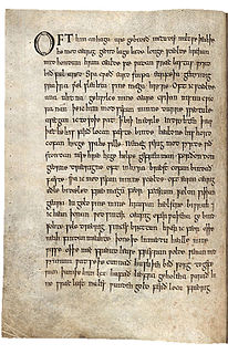 <i>The Wanderer</i> (poem) Old English poem from the Exeter Book