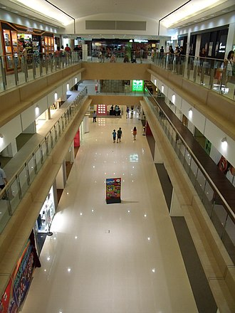 West Coast Plaza - Three levels of shopping are available in the plaza