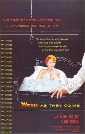 Wicked as They Come - Theatrical release poster