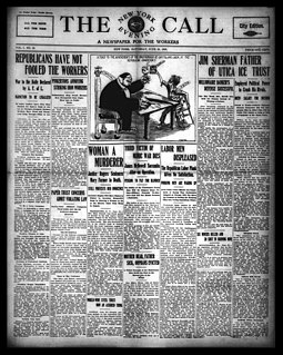 <i>New York Call</i> defunct socialist daily newspaper published in New York City, New York, United States