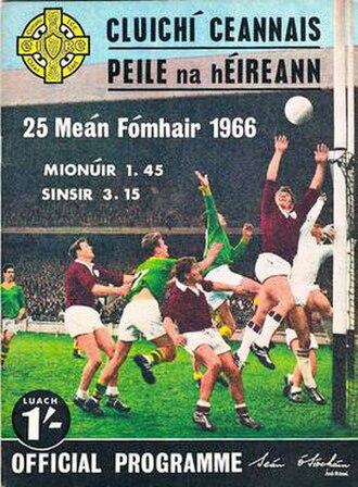 1966 All-Ireland Senior Football Championship Final - Image: 1966 All Ireland Senior Football Championship Final programme