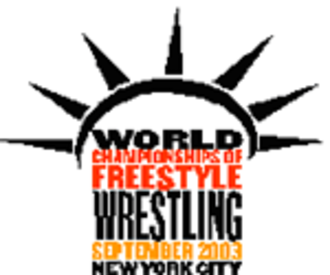 2003 World Wrestling Championships - Image: 2003 FILA Wrestling World Championships FS logo