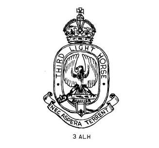3rd light horse badge
