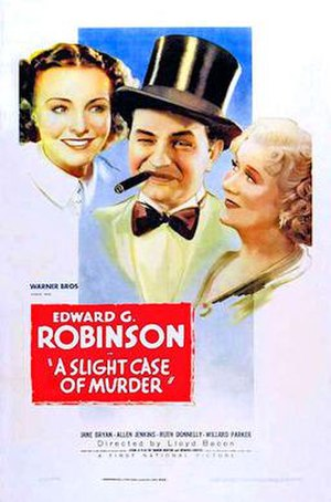A Slight Case of Murder - Theatrical release poster