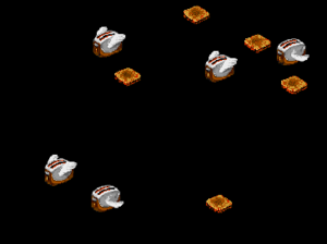 The Flying Toasters screensaver in After Dark 2.0