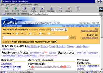 AltaVista - Image: Altavista 1999