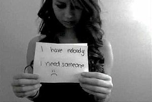 Suicide of Amanda Todd - A screenshot of Todd's YouTube video