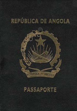 Angolan passport - The front cover of an Angolan passport