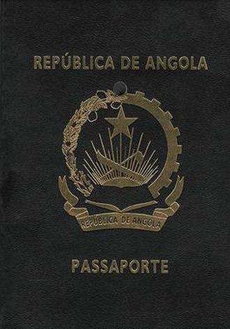 Angolan passport - The front cover of an Angolan passport