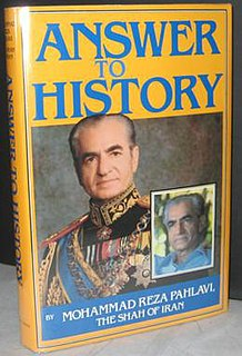 <i>Answer to History</i> book by Mohammad Reza Pahlavi